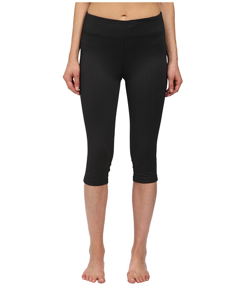 Fila - Herringbone Capris (Black Herringbone) Women