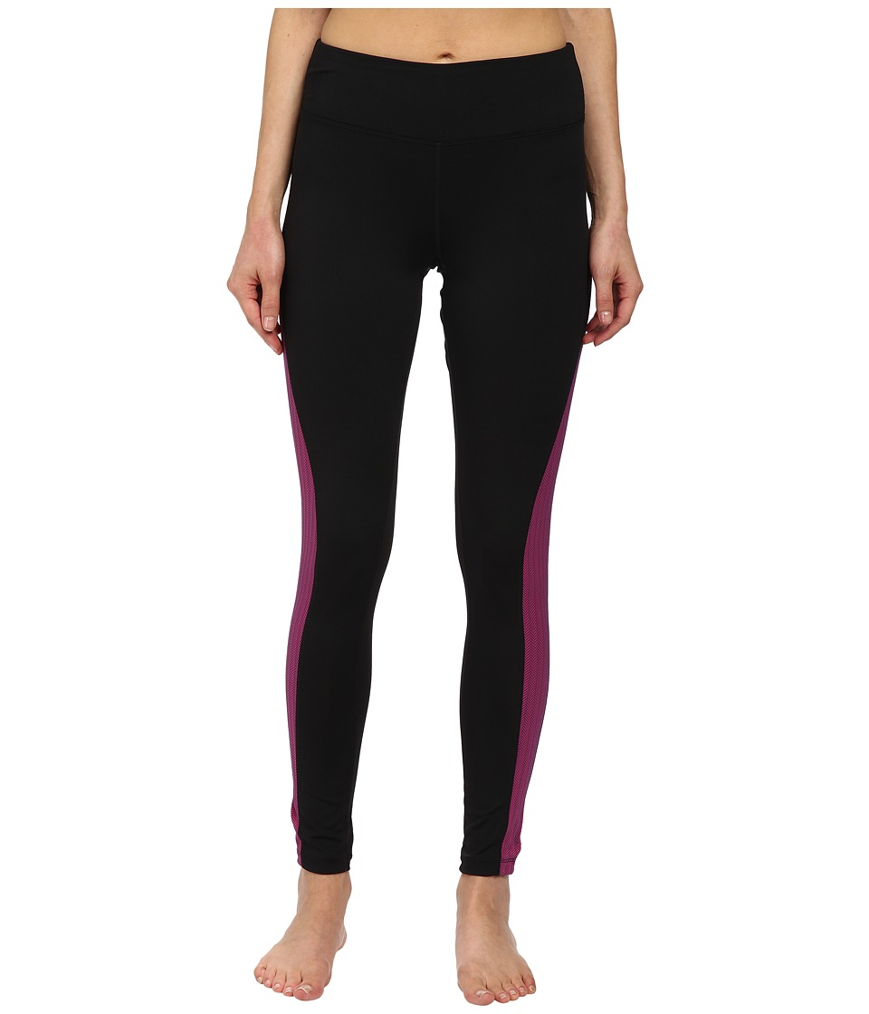 Fila - Herringbone Leggings (Black/Pink Herringbone) Women's Casual Pants