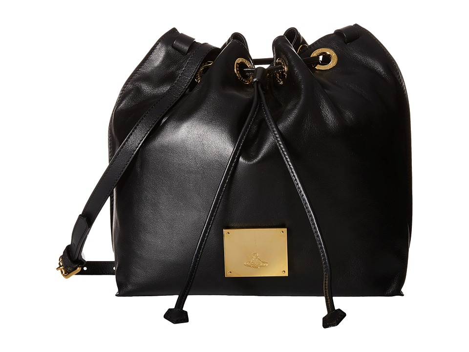 Vivienne Westwood - Hamstead Bucket Bag (Black) Cross Body Handbags