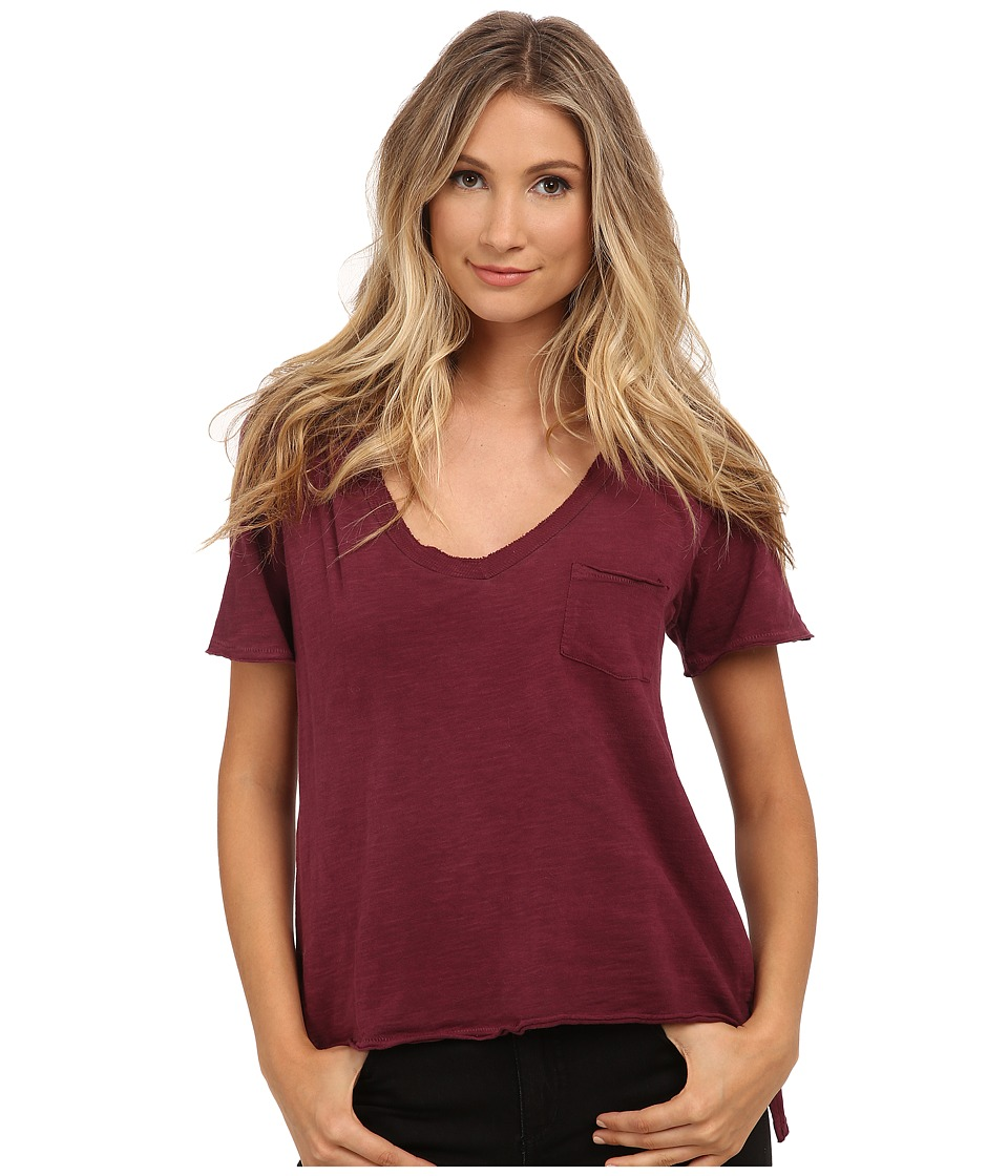 Free People - 757 Tee (Marsala) Women's T Shirt