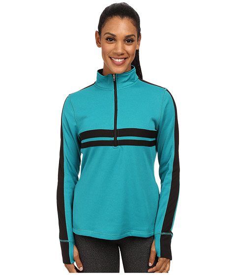 Fila - Fila-Ment Half Zip (Emerald Green/Black/Electric Green) Women