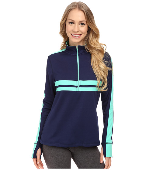 Fila - Fila-Ment Half Zip (Navy Power/Electric Green/Thistle) Women