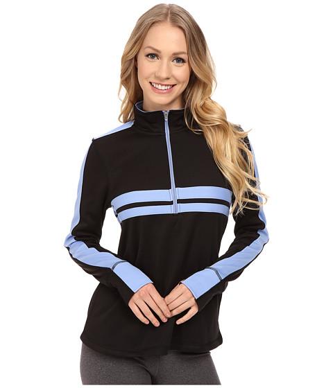 Fila - Fila-Ment Half Zip (Black/Lavender/Dazzling Blue) Women's Sweatshirt