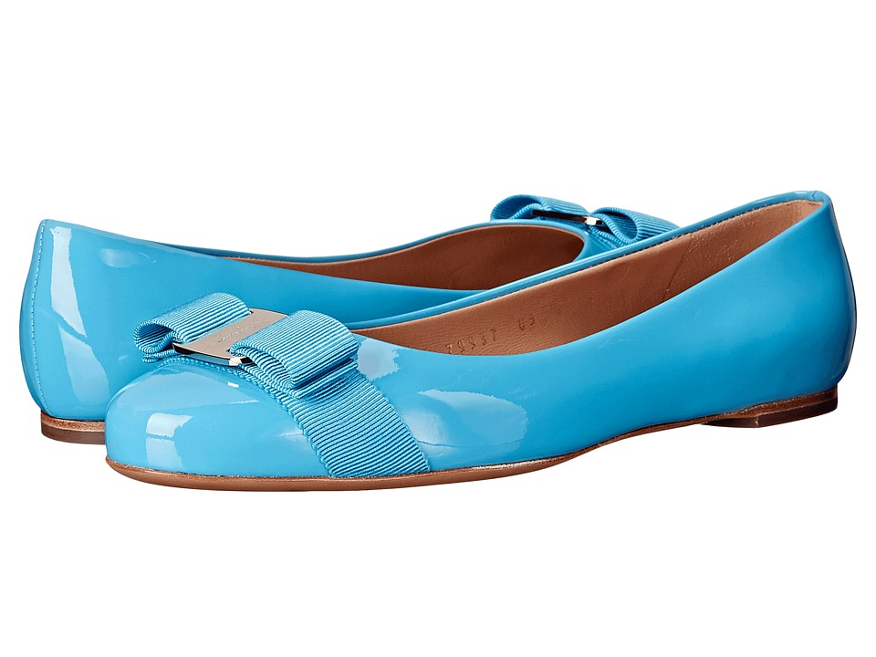 Salvatore Ferragamo - Varina (Cielo Patent) Women's Slip on Shoes