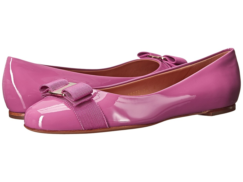 Salvatore Ferragamo - Varina (Anemone Patent) Women's Slip on Shoes