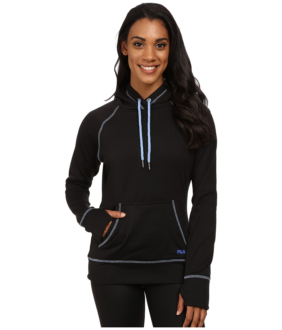 Fila - Pleasing Pullover (Black/Dazzling Blue/Lavender Blue) Women