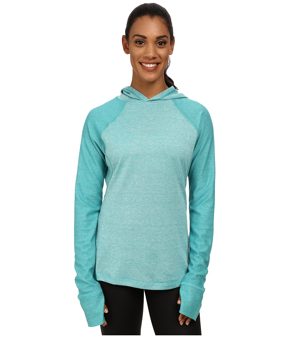 Fila - Positive Negative Hoodie (Emerald Teal Heather) Women's Sweatshirt