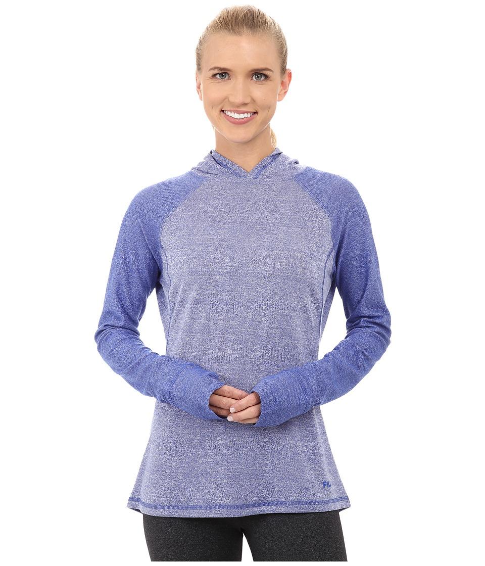 Fila - Positive Negative Hoodie (Dazzling Blue Heather) Women's Sweatshirt