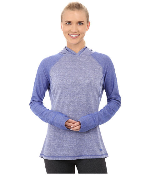 Fila - Positive Negative Hoodie (Dazzling Blue Heather) Women