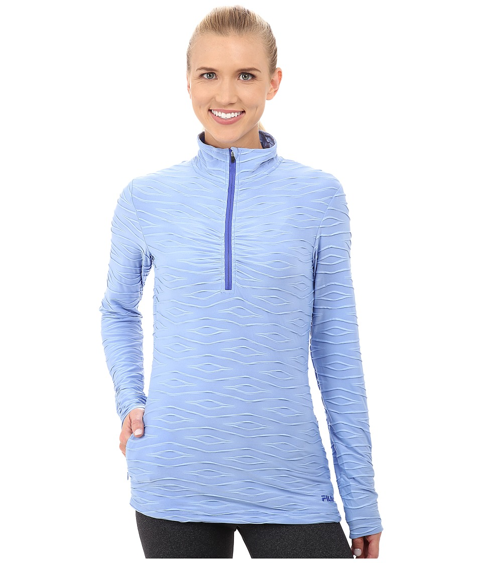 Fila - On The Run Half Zip (Lavender Blue/Dazzling Blue Heather) Women