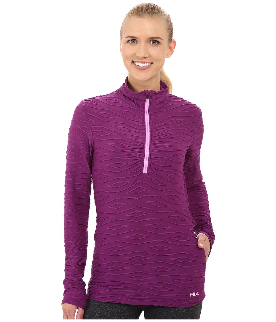 Fila - On The Run Half Zip (Sparkling Purple/Thistle Heather) Women