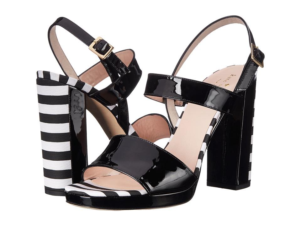 Kate Spade New York - Brax (Black Patent/Black/White Stripe Grosgrain) Women's Shoes