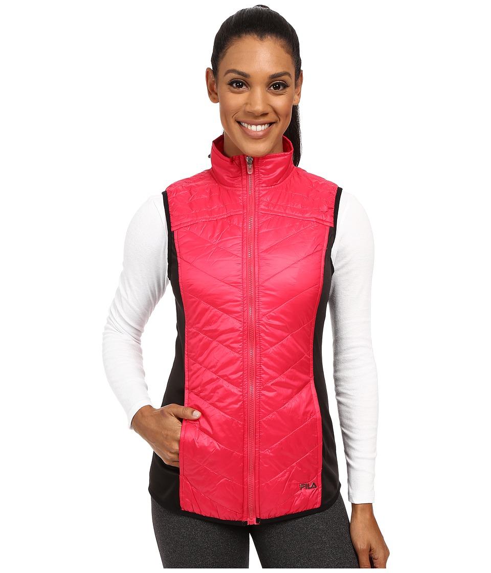 Fila - Weather Permitting Vest (Bright Rose/Black) Women
