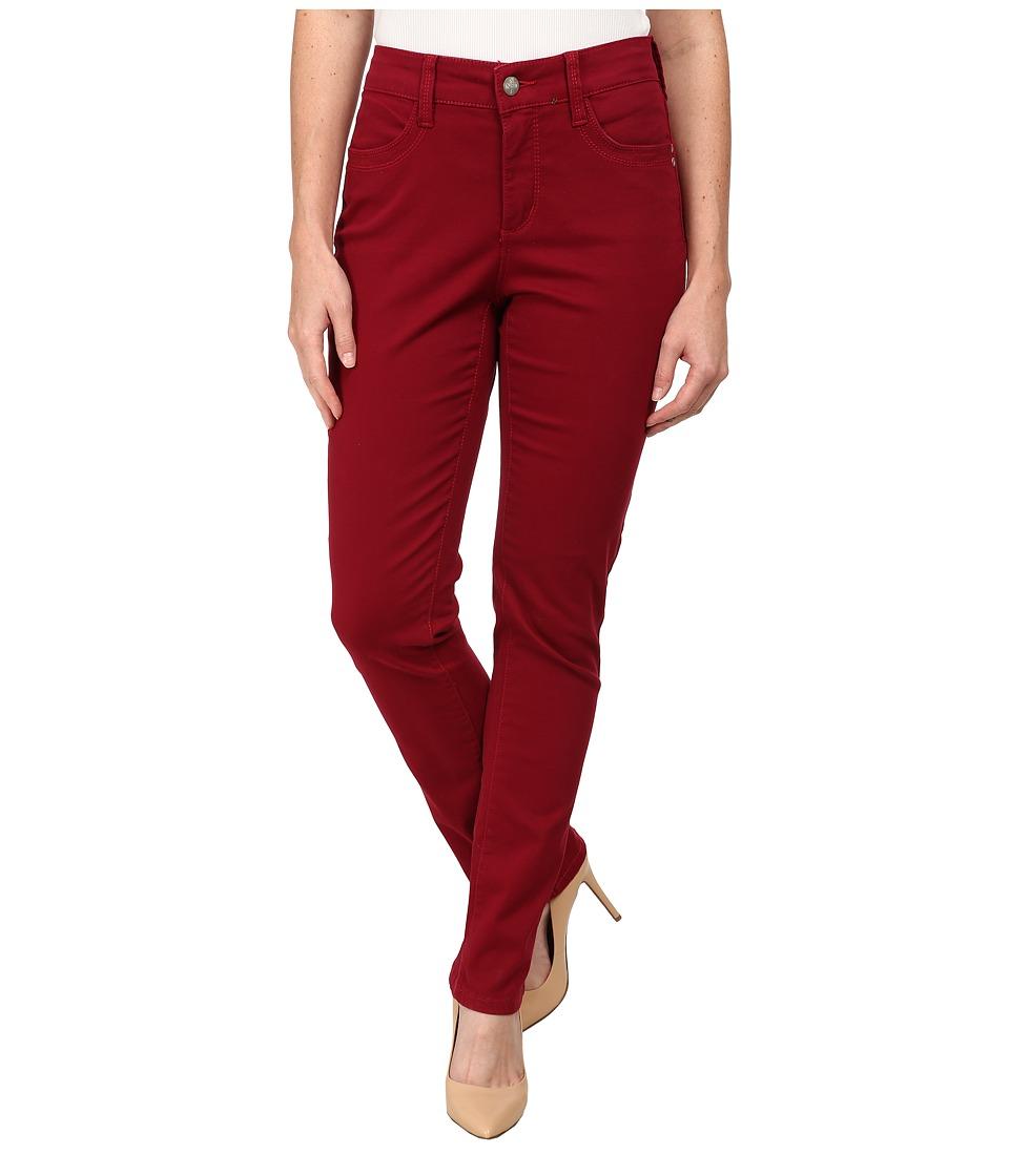 NYDJ Petite - Petite Samantha Slim (Claret) Women's Casual Pants plus size,  plus size fashion plus size appare