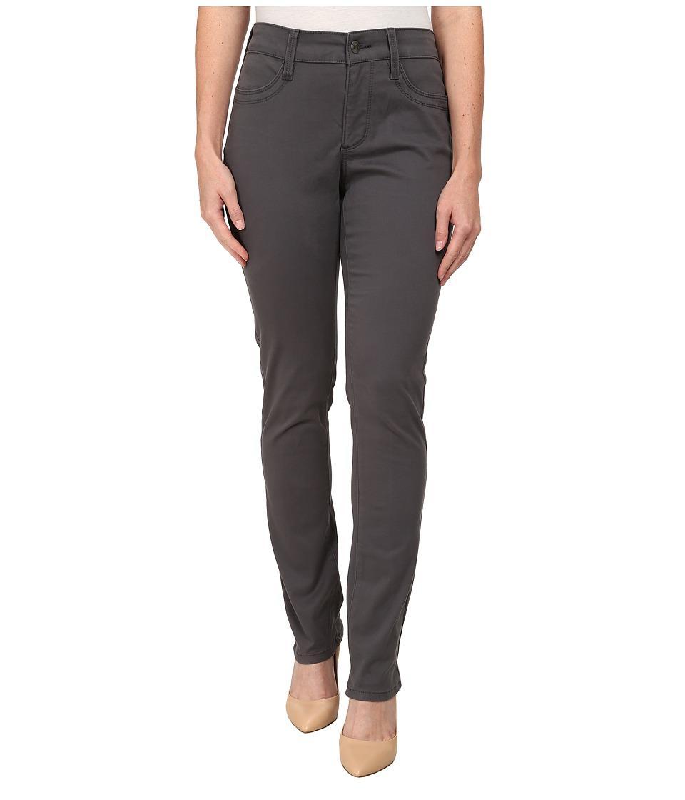 NYDJ Petite - Petite Samantha Slim (Dark Graphite) Women's Casual Pants plus size,  plus size fashion plus size appare