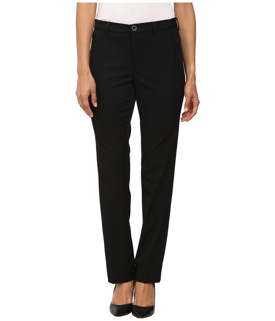 NYDJ Petite - Petite Sandrah Slim Trousers (Black) Women's Casual Pants