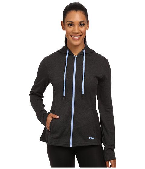 Fila - Bella Jacket (Black Heather/Lavender Blue) Women's Sweatshirt
