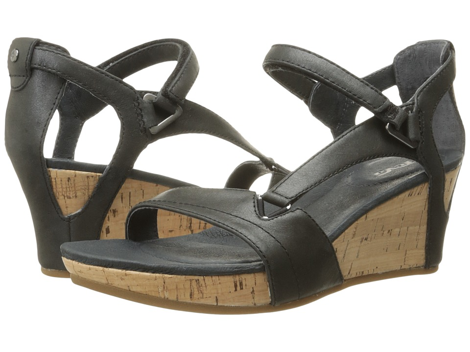 Teva Capri Wedge (Pearlized Black) Women