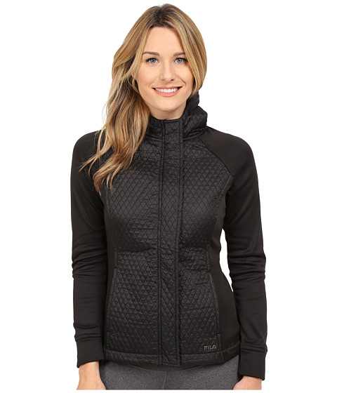 Fila - Quilted Jacket (Black/Black) Women's Coat