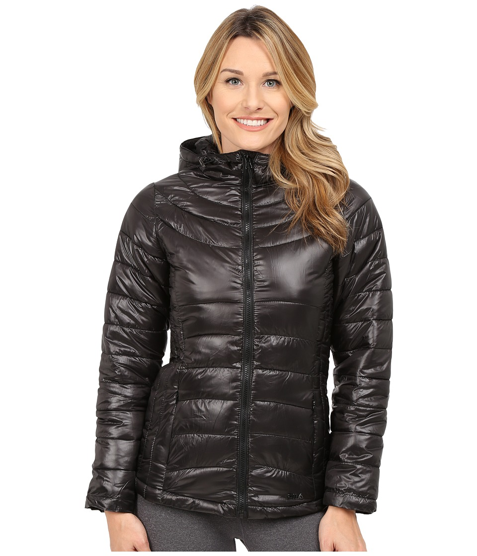 Fila - Channel Puffer Jacket (Black/Black) Women