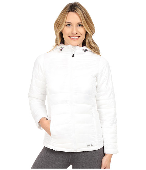Fila - Channel Puffer Jacket (White/Sparkling) Women's Coat