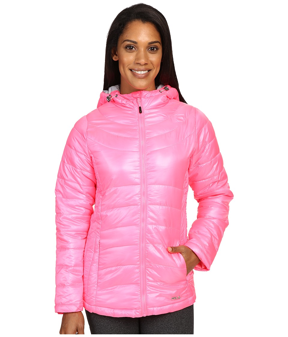 Fila - Channel Puffer Jacket (Knockout Pink/High Rise) Women's Coat