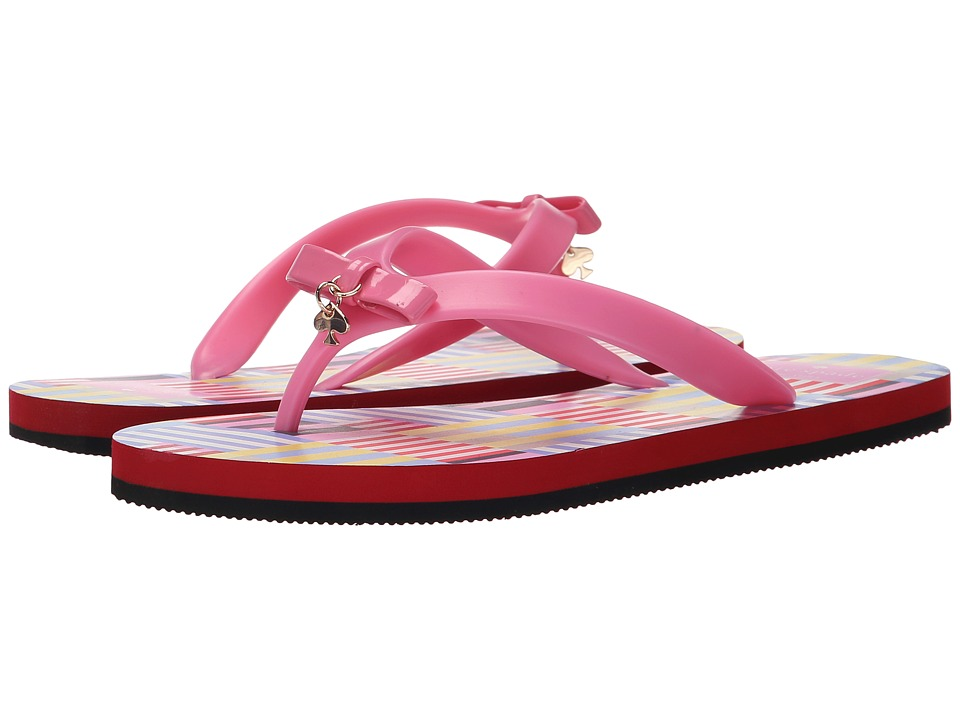 Kate Spade New York - Fifi (Vibrant Pink Rubber/Multicolor Flag Stripe Print) Women's Sandals