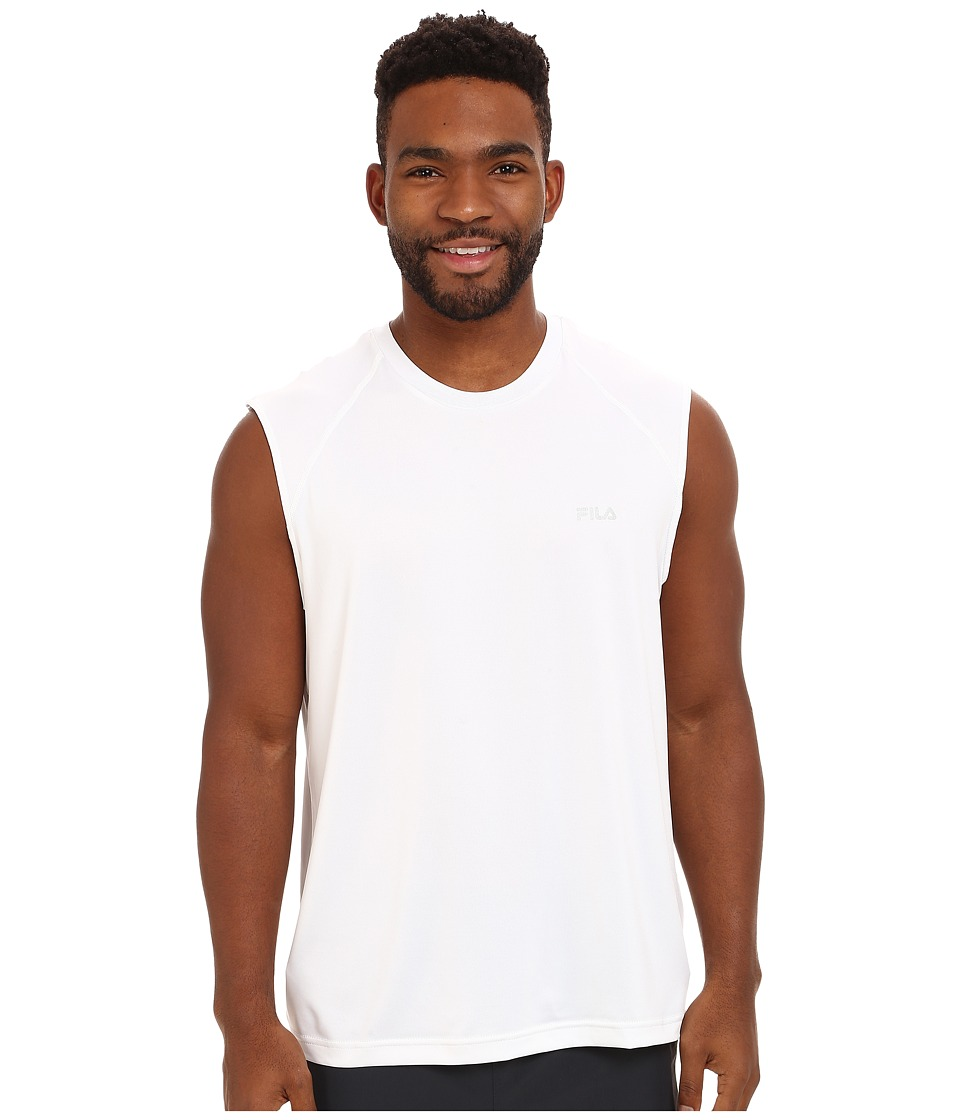 Fila - Sleeveless Top (White) Men's Sleeveless