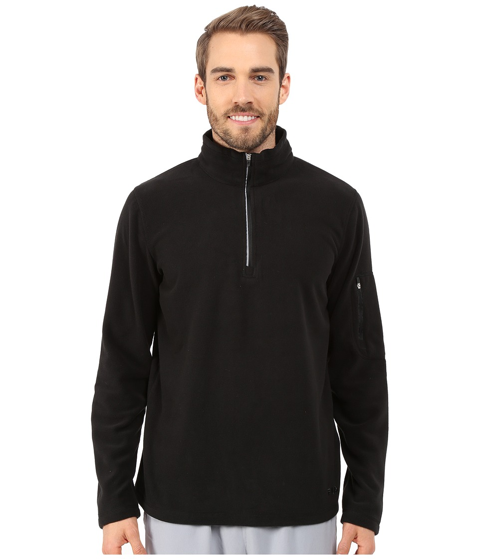 Fila - Encore Half Zip Pullover (Black/Black) Men