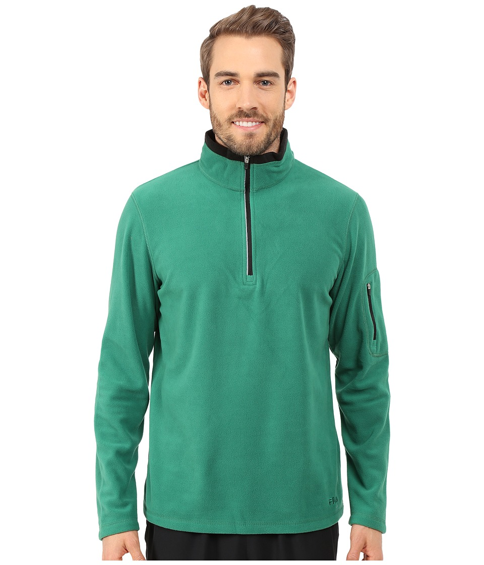 Fila - Encore Half Zip Pullover (Verdant Green/Black) Men's Sweatshirt