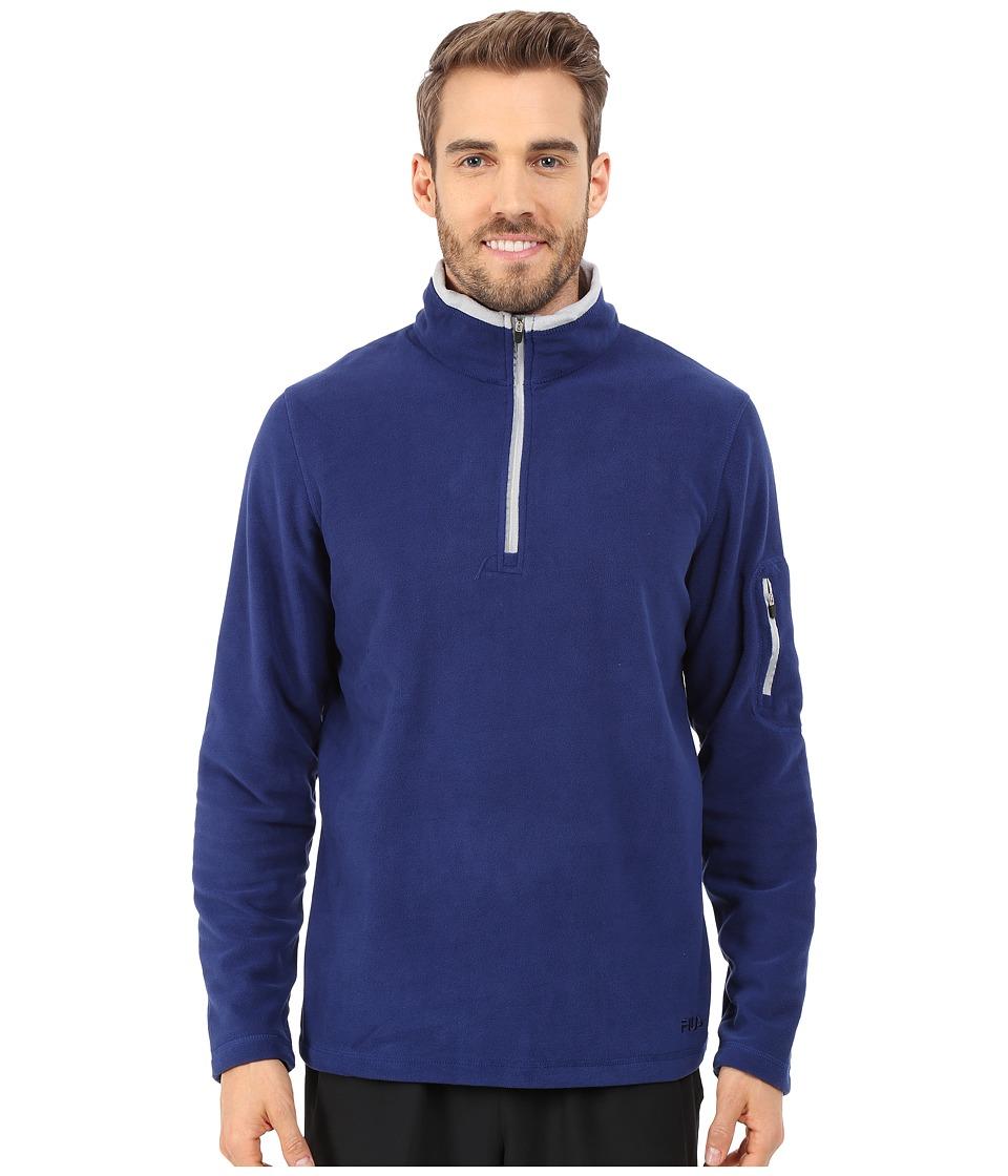 Fila - Encore Half Zip Pullover (Blue Depths/High Rise) Men