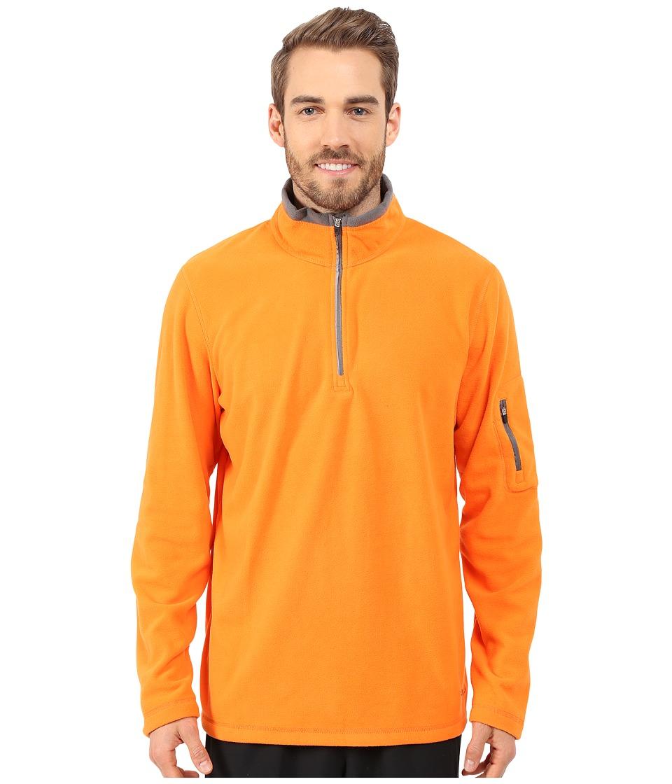 Fila - Encore Half Zip Pullover (Vibrant Orange/Castlerock) Men's Sweatshirt