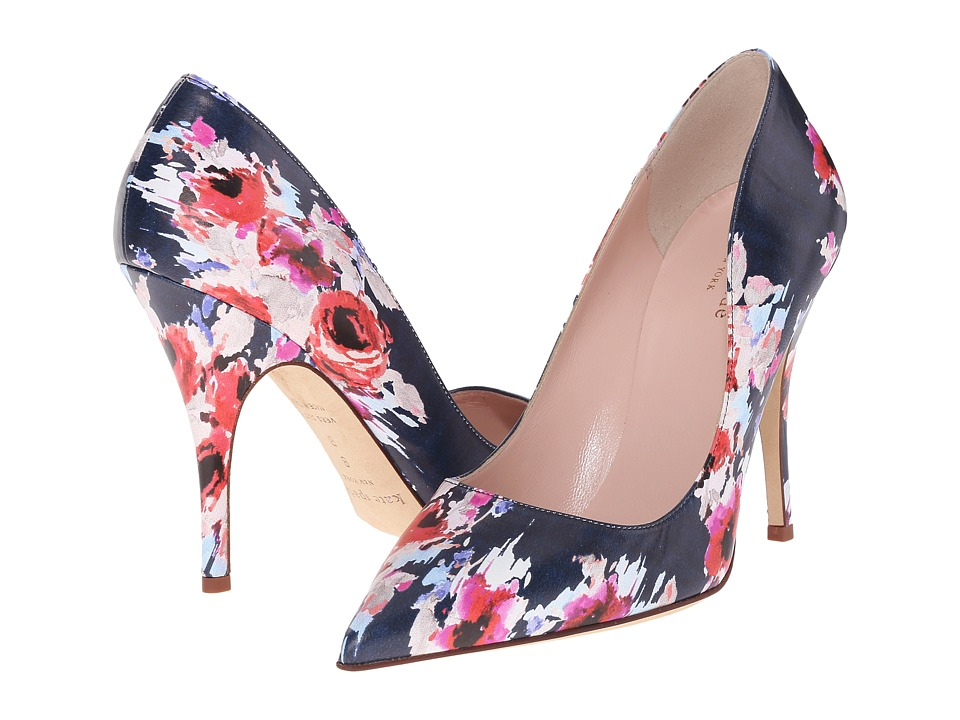 Kate Spade New York - Licorice (Multi Blurry Floral Nappa) High Heels