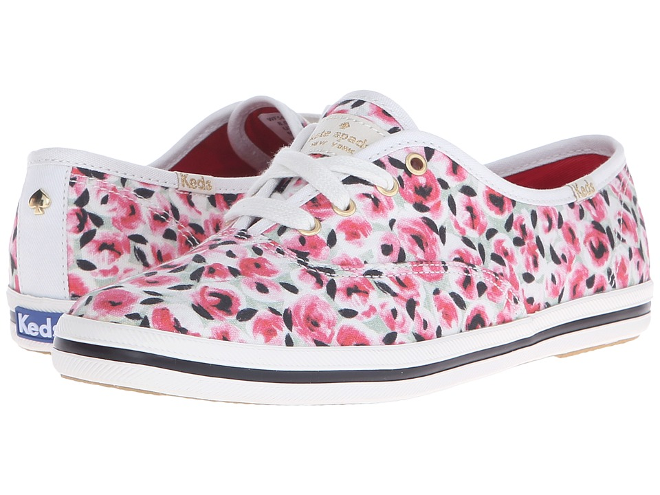 Kate Spade New York - Kick (Pink Rose Garden Printed Canvas) Women's Lace up casual Shoes