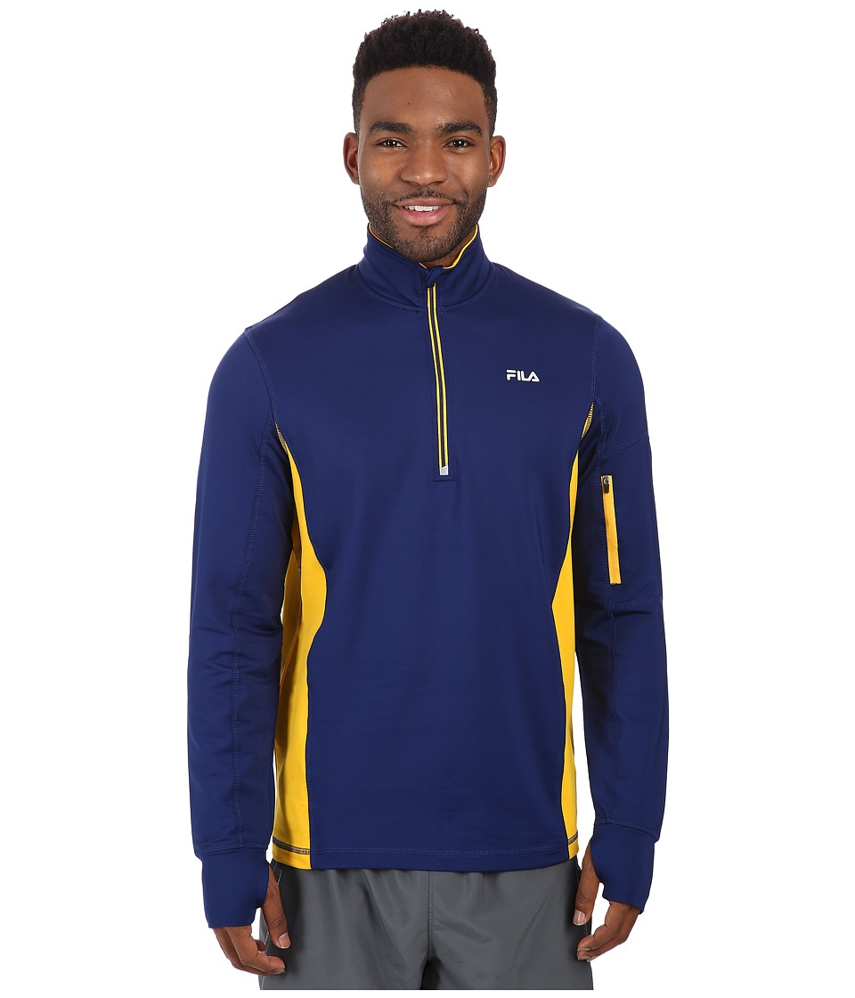 Fila - Sentinel Half Zip (Blue Depths/Golden Rod) Men