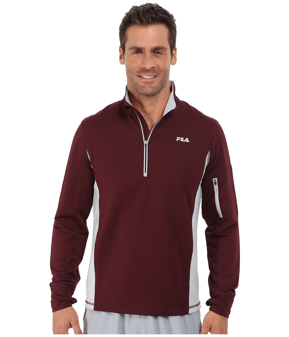 Fila - Sentinel Half Zip (Wine Tasting/High Rise) Men