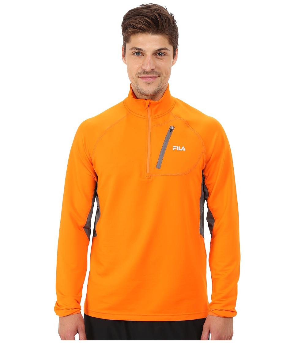 Fila - Skyline Half Zip (Vibrant Orange/Castlerock) Men's T Shirt