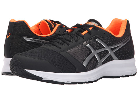 ASICS - Patriot 8 (Black/Silver/Hot Orange) Men's Shoes