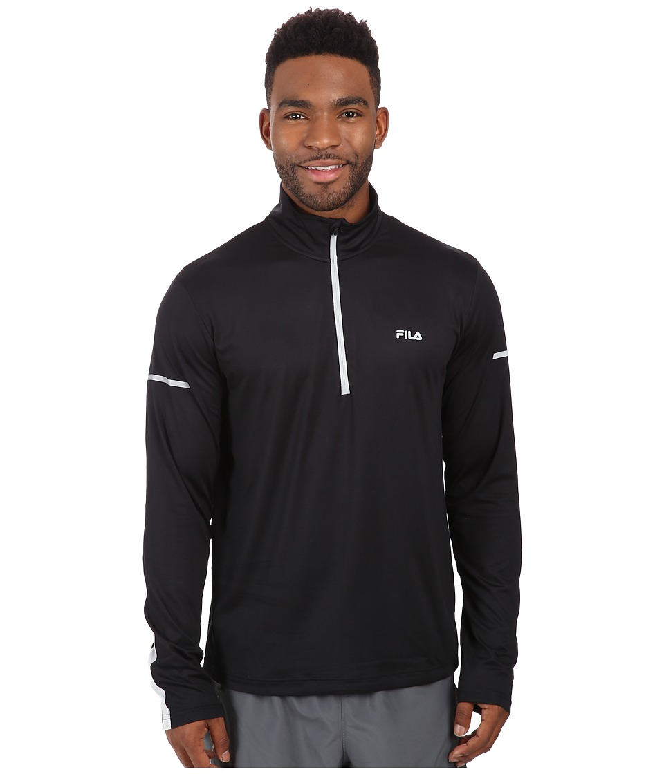 Fila - Windrunner Performance Half Zip (Black/High Rise) Men