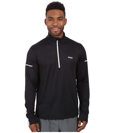 Fila - Windrunner Performance Half Zip (Black/High Rise) Men's Clothing
