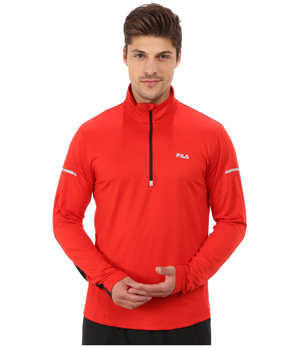 Fila - Windrunner Performance Half Zip (Formla One/Black) Men's Clothing