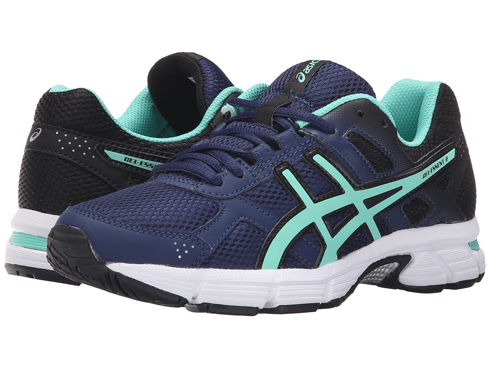 ASICS Gel-Essent 2 (Indigo Blue/Aqua Mint/Black) Women