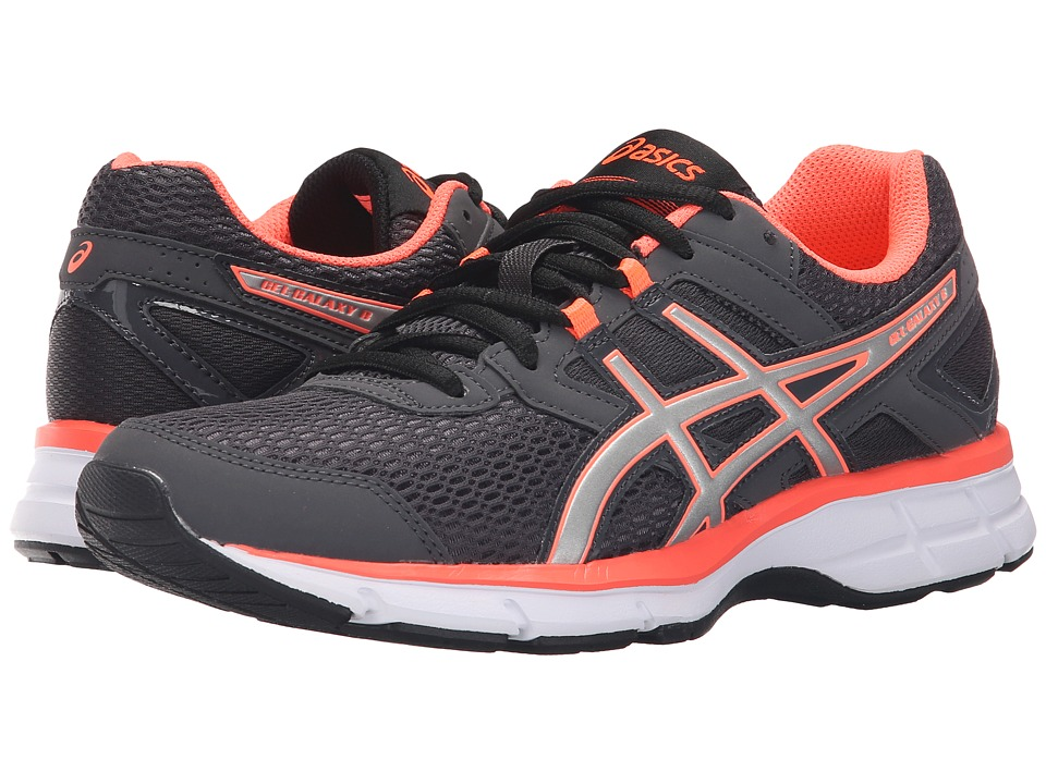 ASICS - Gel-Galaxy 8 (Dark Grey/Silver/Flash Coral) Women