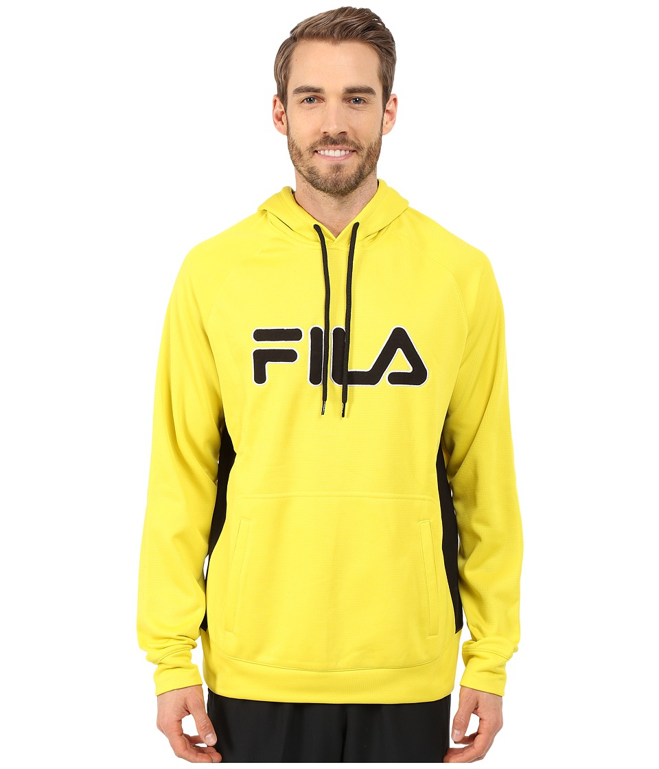 Fila - Checker Pullover (Hot Lime/Black/White) Men