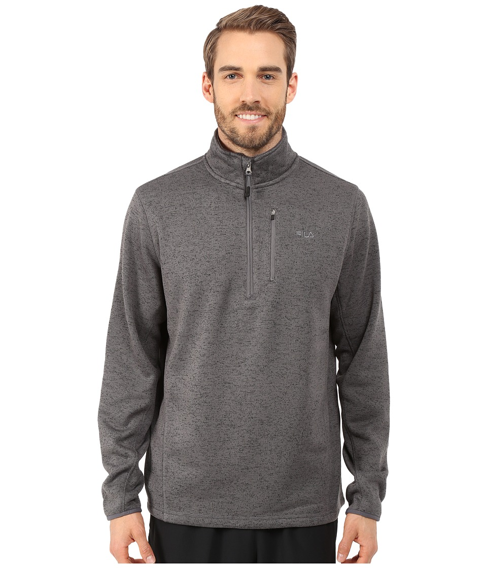 Fila - Sweather Half Zip (Charcoal Heather) Men
