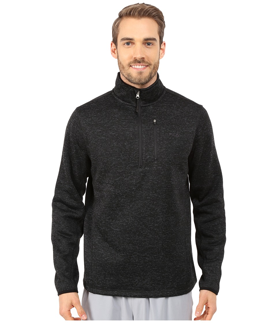 Fila - Sweather Half Zip (Black Heather) Men's Sweater