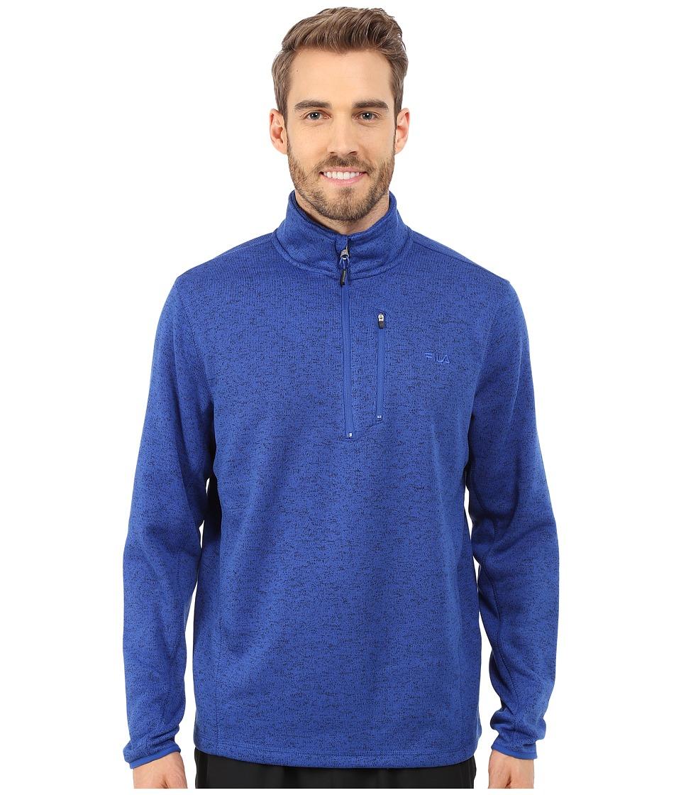 Fila - Sweather Half Zip (Surf the Web Heather) Men's Sweater