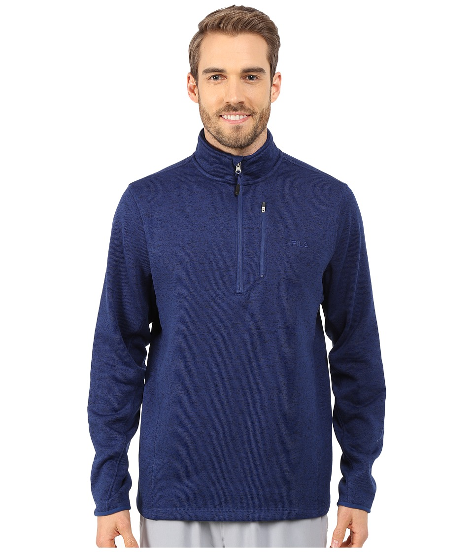 Fila - Sweather Half Zip (Blue Depths Heather) Men's Sweater
