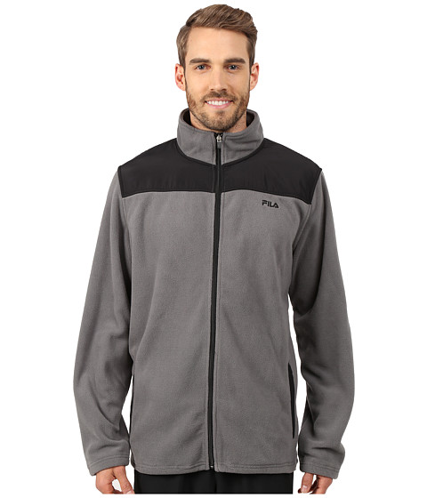 Fila - Arctic Fleece Jacket (Castlrock/Black) Men