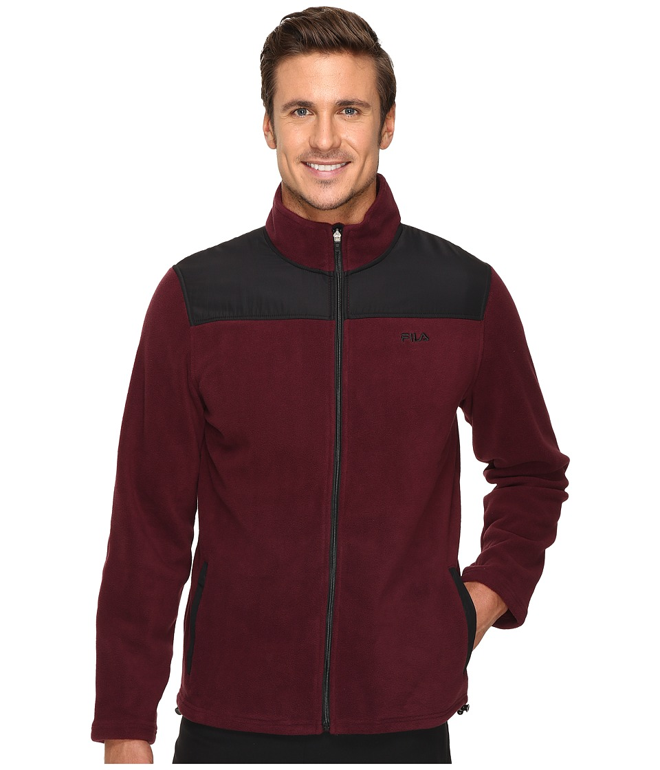 Fila - Arctic Fleece Jacket (Wine Tasting/Black) Men's Coat